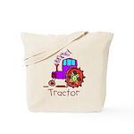 Kid Art Tractor Tote Bag