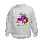 Kid Art Tractor Kids Sweatshirt