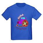 Kid Art Tractor Kids Dark T-Shirt