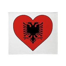 Albania Heart Throw Blanket