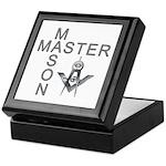 Master Masons Square and Compasses Keepsake Box