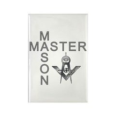 Master Masons Square and Compasses Rectangle Magn