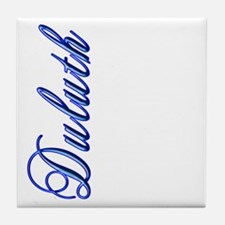Elegant Script Duluth Tile Coaster