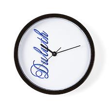 Elegant Script Duluth Wall Clock