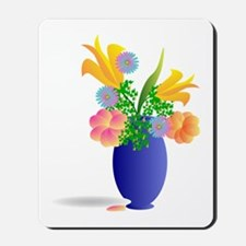 Spring Bouquet in Blue Vase Mousepad