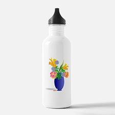 Spring Bouquet in Blue Water Bottle