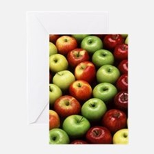 apples red green granny smith Greeting Card