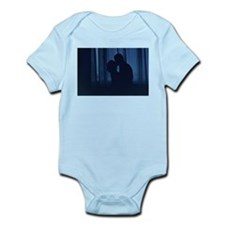 Blue silhouette couple kissing analogue Body Suit