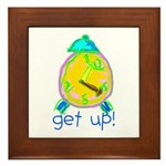 Kid Art Alarm Clock Framed Tile