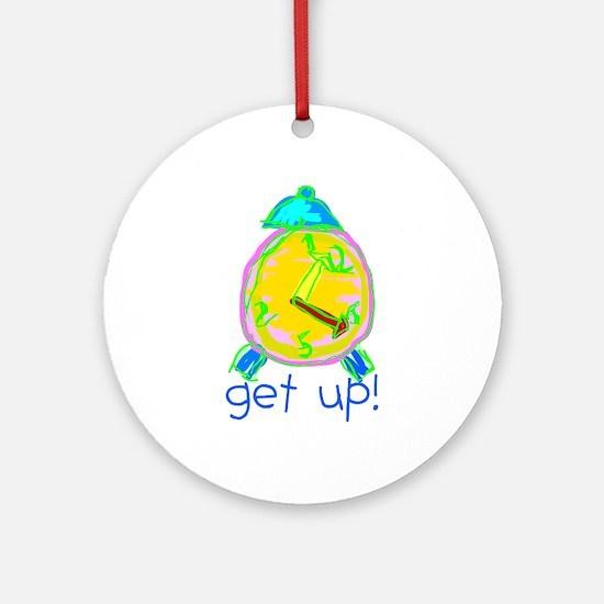 Kid Art Alarm Clock Ornament (Round)