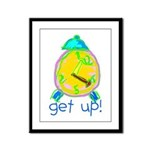 Kid Art Alarm Clock Framed Panel Print