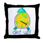 Kid Art Alarm Clock Throw Pillow