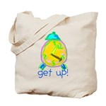 Kid Art Alarm Clock Tote Bag