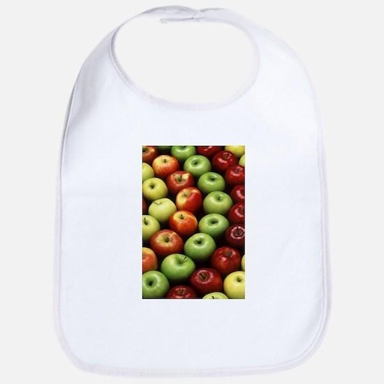 apples red green granny smith Bib