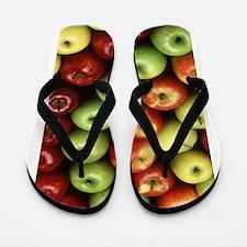 apples red green granny smith Flip Flops
