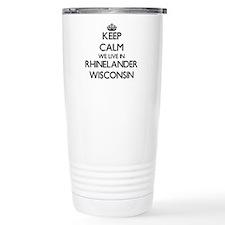 Keep calm we live in Rh Travel Mug