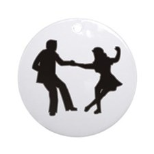 DANCING COUPLE Ornament (Round)