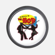 LETS GO TO THE HOP Wall Clock