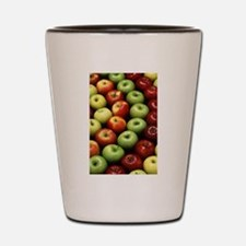 apples red green granny smith Shot Glass