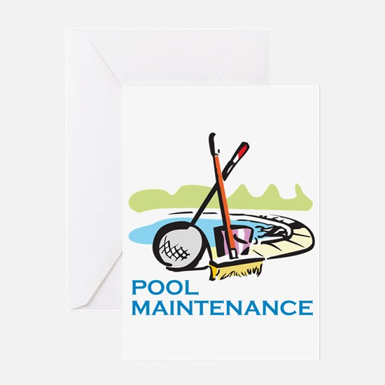 POOL MAINTENANCE Greeting Cards