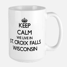 Keep calm we live in St. Croix Falls Wisconsi Mugs