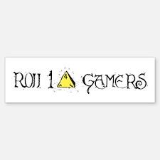 Roll 1d4 Gamers Logo Bumper Bumper Bumper Sticker