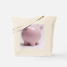 funny piggy bank butt photo Tote Bag