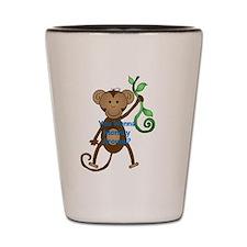 you wanna monkey around Shot Glass