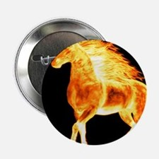 "fire horse black orange 2.25"" Button (10 pack)"