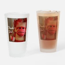 Thank You Monkey Doll Drinking Glass