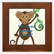 You wanna monkey around Framed Tile