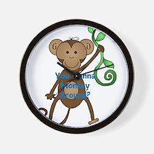 You wanna monkey around Wall Clock