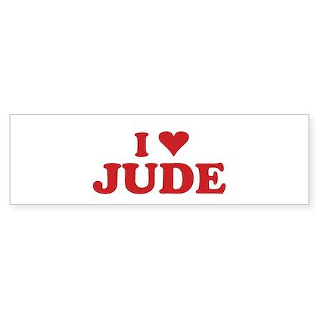 I LOVE JUDE Bumper Sticker