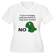 T-Rex isnt happy Plus Size T-Shirt
