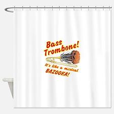 Bass Trombone Musical Bazooka Shower Curtain