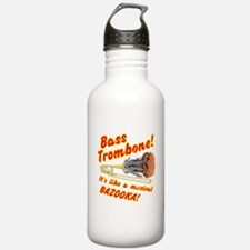 Bass Trombone Musical Bazooka Water Bottle