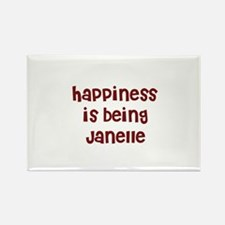 happiness is being Janelle Rectangle Magnet