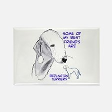 Cute Bedlington terrier Rectangle Magnet