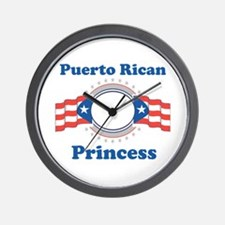 Puerto Rican Princess Wall Clock