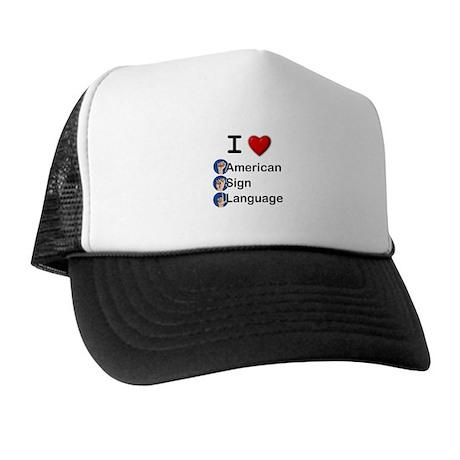 I Heart ASL Trucker Hat