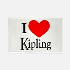 I Love Kipling Rectangle Magnet