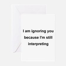 ASL Terp Humor 1 Greeting Cards (Pk of 10)