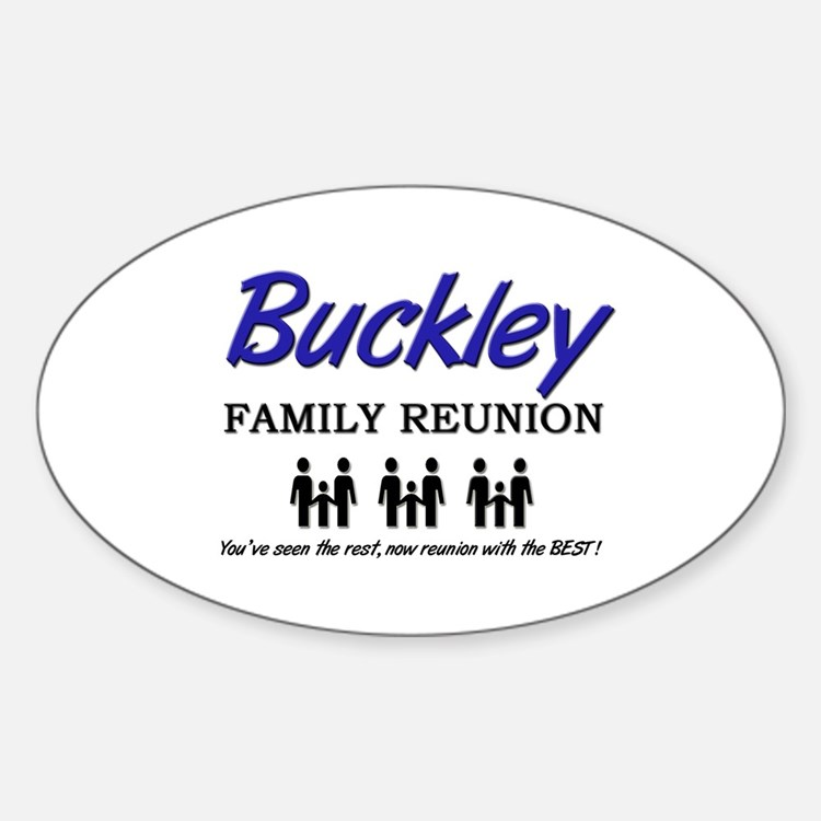 Buckley Family Reunion Oval Decal