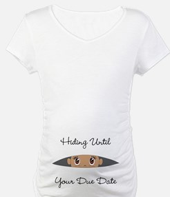 Hiding Until [Your Due Date] CUS Shirt