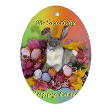 Siamese Cat - Easter Cat Ornament (Oval)