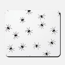 creepy spiders black white Mousepad