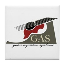 G.A.S. Acoustic Guitar Red Tile Coaster
