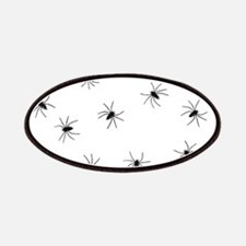 creepy spiders black white Patches