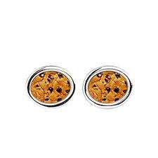 Chocolate_chip_cookies Oval Cufflinks