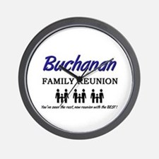 Buchanan Family Reunion Wall Clock
